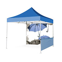 Customizable gazebo, dismountable and transportable with bag
