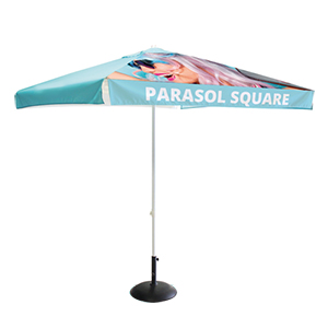 Square parasol for promotional activities