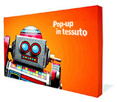 Straight textile Pop-up display