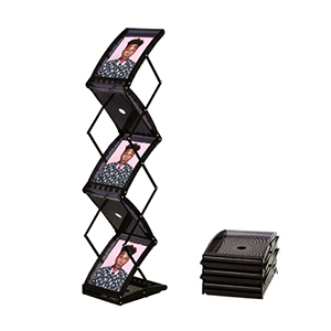 Replaceable A4 brochure holder