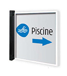 Double-sided flag office door sign