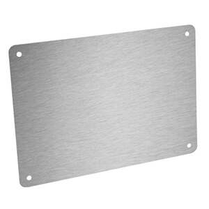 Plate in brushed silver composite aluminum