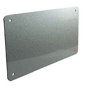 Bright silver wall perspex plate